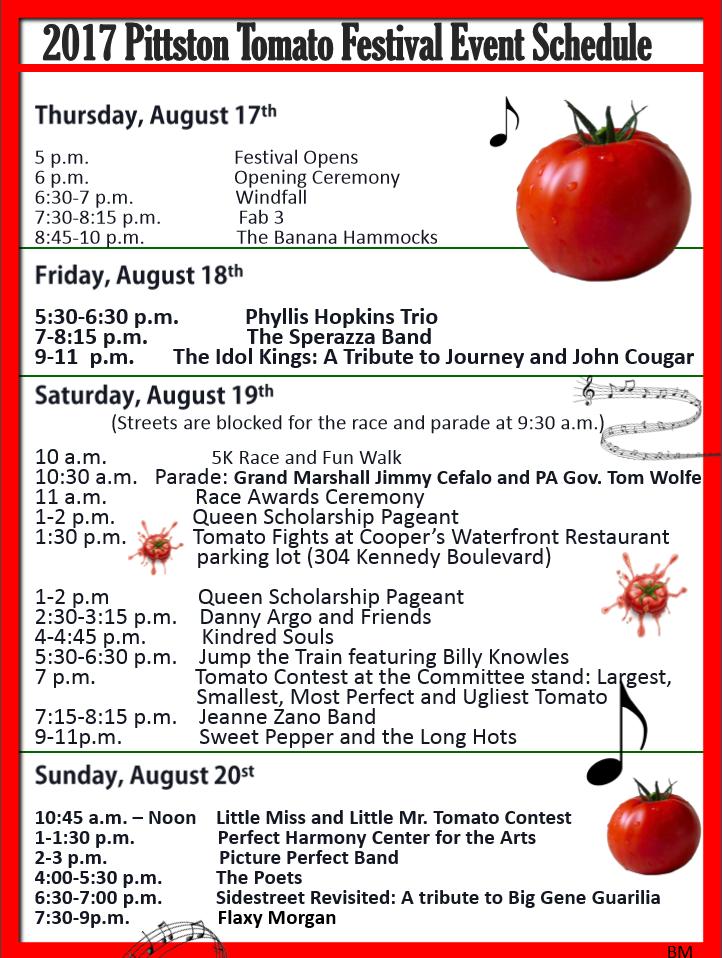 tomato festival schedule